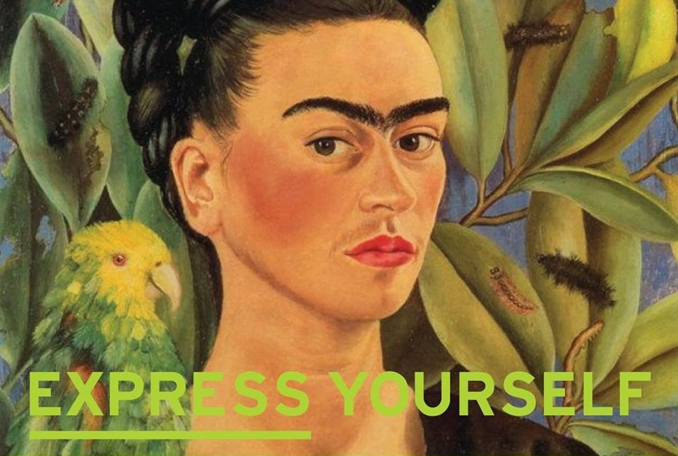Frida Kahlo with Express Yourself text